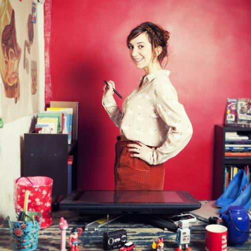 Portrait de Pénélope Bagieu, Illustratrice pour le Elle