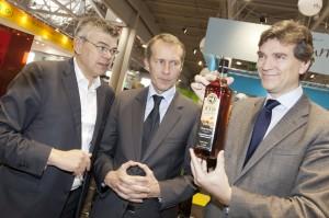 Rencontre du ministre Arnaud Montebourg avec les sirops Routin sur le SIAL.