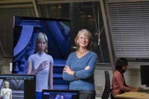 Portrait de Catherine Pelachaud, Directrice de recherche au CNRS Université de Jussieu