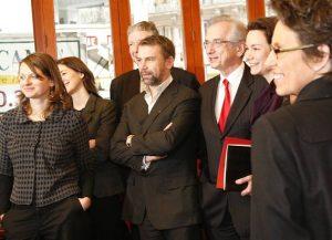 Conférence de presse pour présenter la liste du 9e arrondissement de Paris le 30/01/08 au café