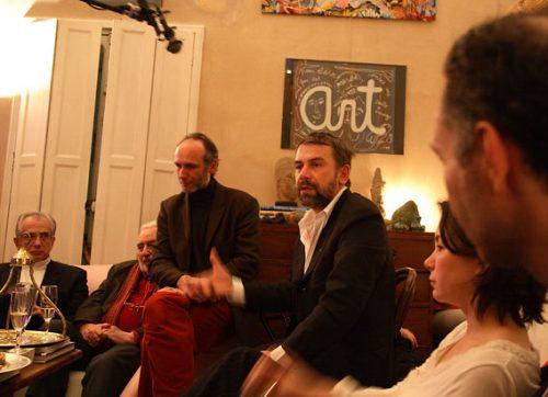 La campagne, c'est aussi des réunions dans des appartements... (cité Malesherbes, le 17/02/08)