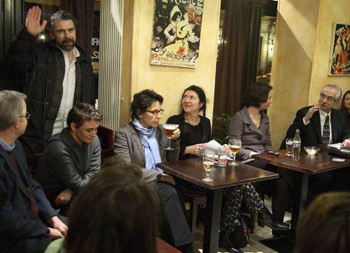 ... et dans des cafés, jusqu'à trois fois par semaine. (café de la liberté, le 21/02/08)