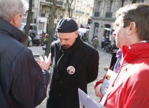 Discussion entre les candidats, (place Turgot, le 01/03/08)